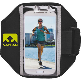 Nathan Super 5K Smartphone Arm Pouch, black/sulfur